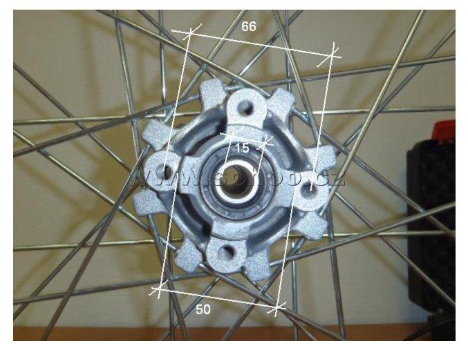 Ráfek zadní na pitbike, dirtbike - kolo 12´´ Typ3