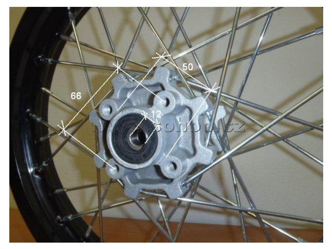 Ráfek zadní na pitbike, dirtbike - kolo 14´´ Typ2