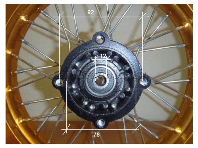 Ráfek zadní na pitbike, dirtbike - kolo 14´´ Typ7