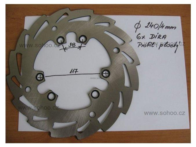 Brzdový kotouč na pitbike, dirtbike - 240/117/P6D