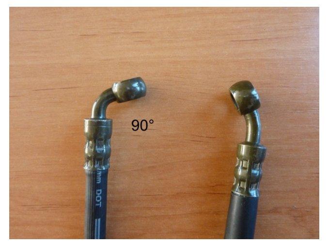 Hadice brzdová pit/dirt bike ATV-zadní 10/10-90°