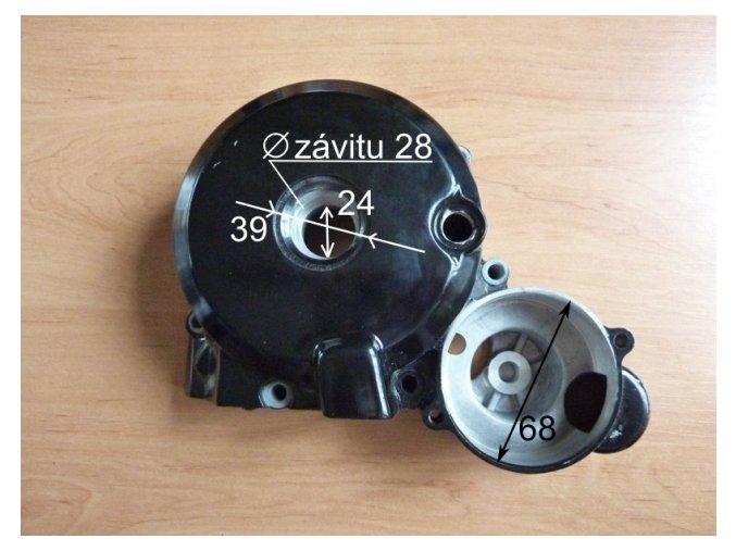 Kryt zapalování pitbike dirtbike ATV-víko T2/250cc