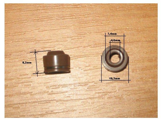 Gufero/simerink ventilů pitb/dirt bike ATV-hnědý