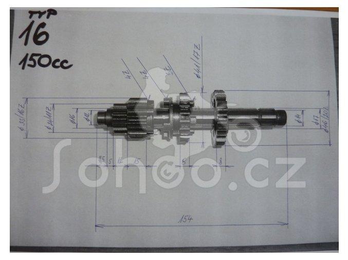 Převodovka pitbike dirtbike ATV 150,160ccm - T16