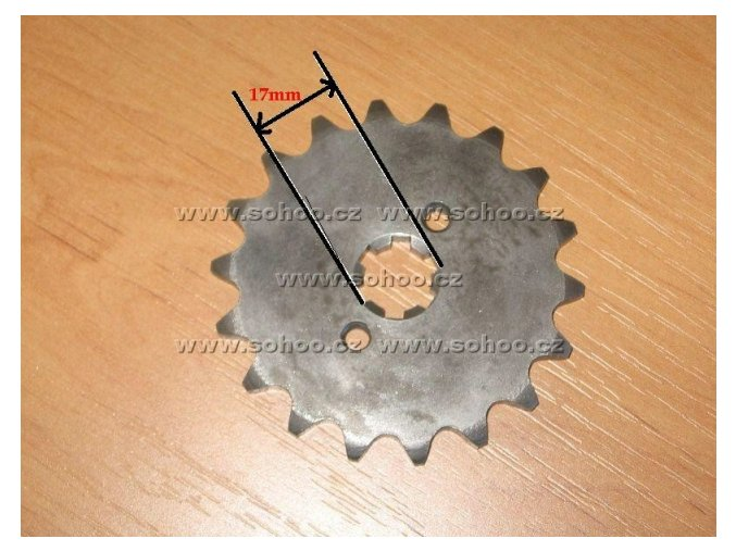Řetězové kolečko pitbike dirtbike ATV(14Z/420/17)
