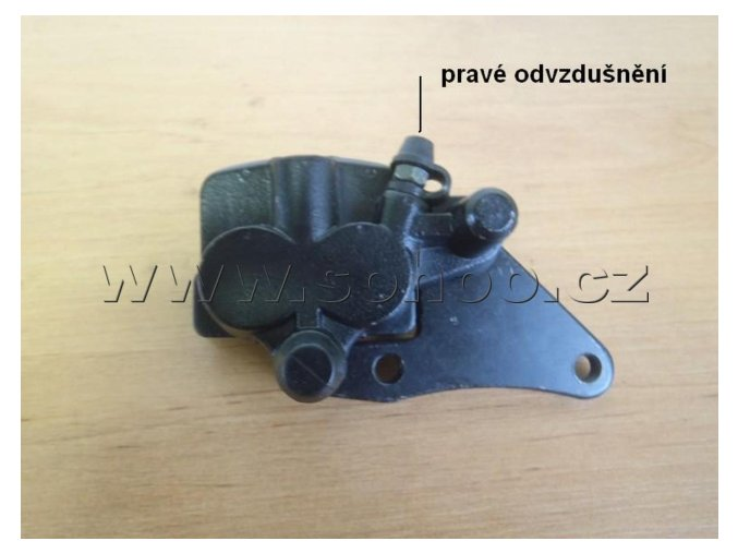 Brzdový třmen pitbike dirtbike ATV - brzdič P/Typ1