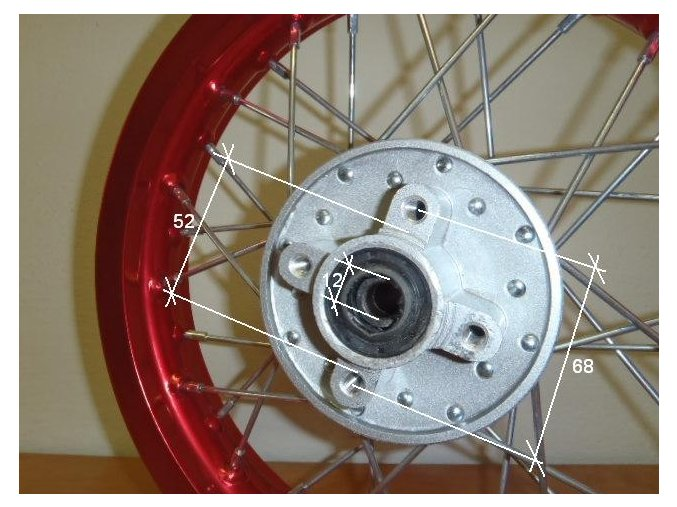 Ráfek zadní na pitbike, dirtbike - kolo 17´´ Typ1