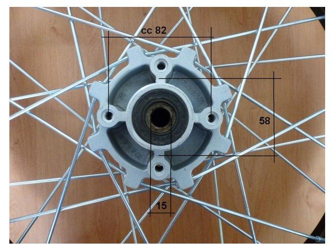 Ráfek zadní na pitbike, dirtbike - kolo 18´´ Typ9