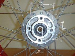 Ráfek přední na pitbike, dirtbike - kolo 14´´ Typ1