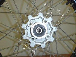 Ráfek přední na pitbike, dirtbike - kolo 14´´ Typ3