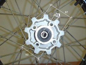 Ráfek přední na pitbike, dirtbike - kolo 14´´ Typ5