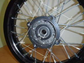 Ráfek zadní na pitbike, dirtbike - kolo 12´´ Typ5