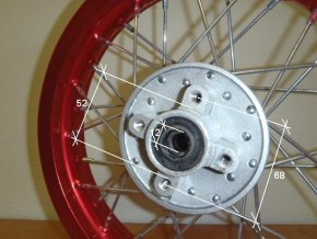 Ráfek zadní na pitbike, dirtbike - kolo 14´´ Typ1
