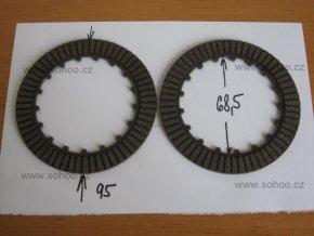 Spojková lamela pitbike dirtbike ATV -125cc 2ks