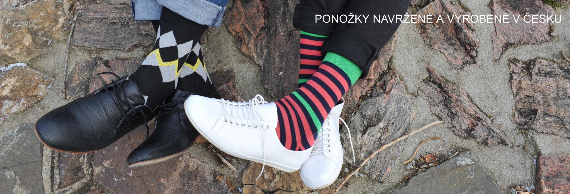 Ponožky navržené a vyrobené v Česku