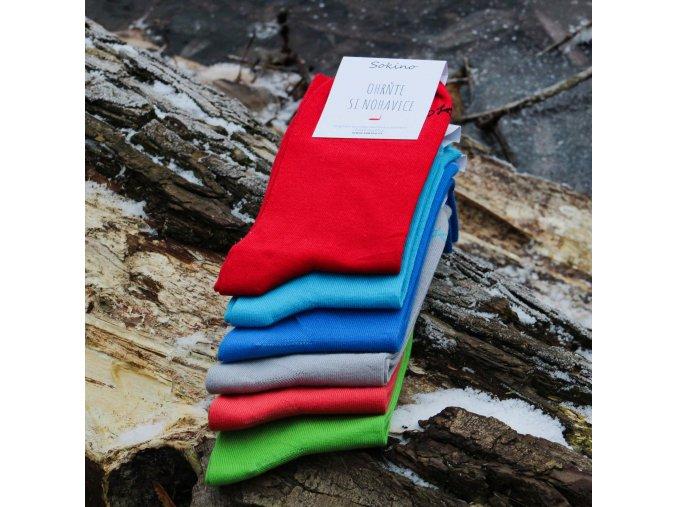 Ponožky - Světle červená