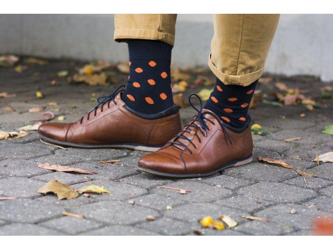 Ponožky - Puntíky v inkoustu