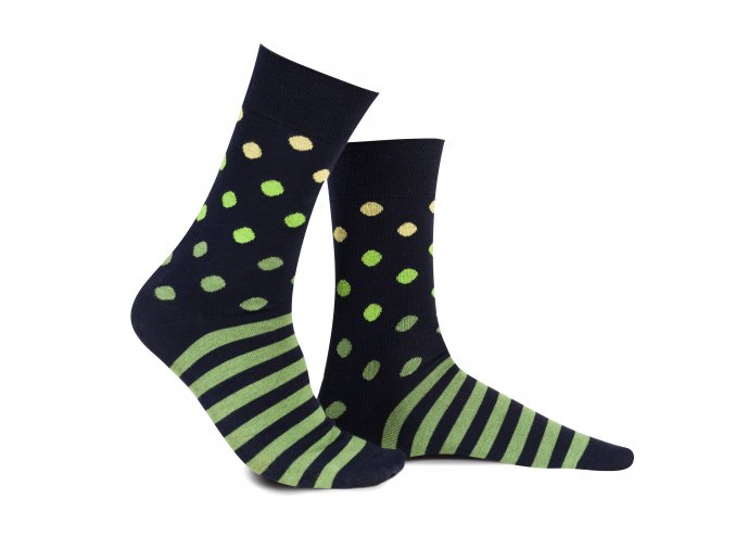Ponožky s puntíky a pruhy