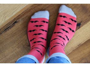 Ponožky - Knírek červený