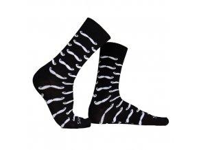 ponožky s kníry černé