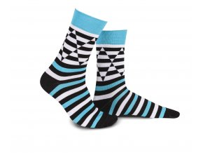 Modrobílé ponožky