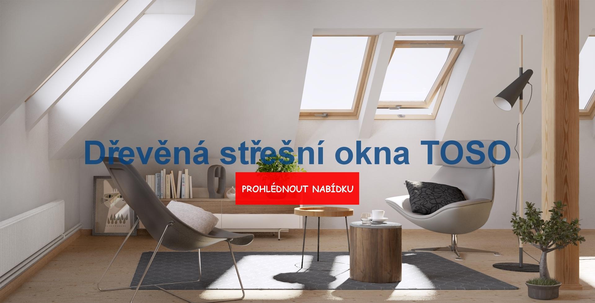 Dřevěná střešní okna Toso