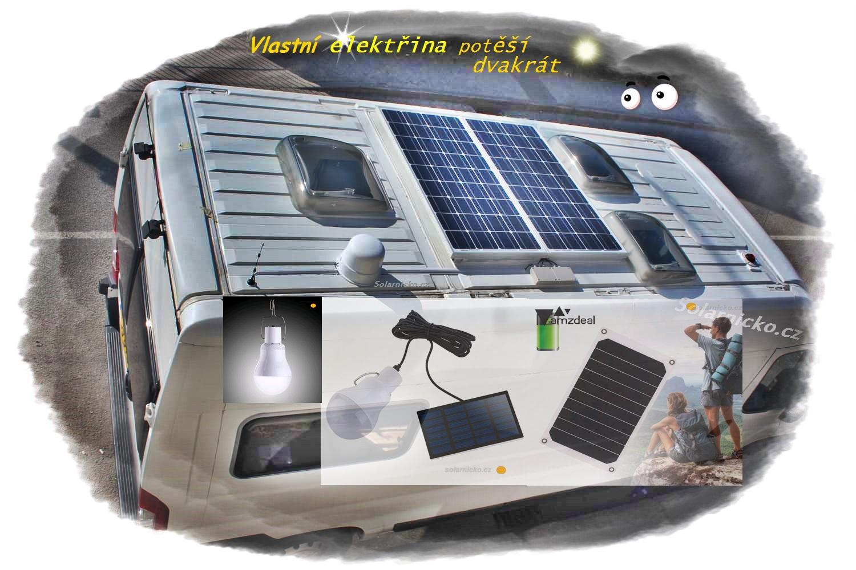 Solární kompletní sestavy. Pořiďte si 100W solární sestavu s příslušenstvím. Nebo budete chtít solární panel o výkonu 165W? Vše najdete na Solarnicko.cz.