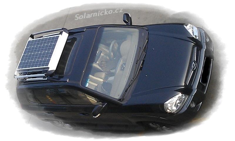 Solární panel na autě