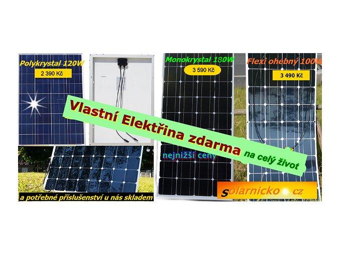 solární panely s příslušenství