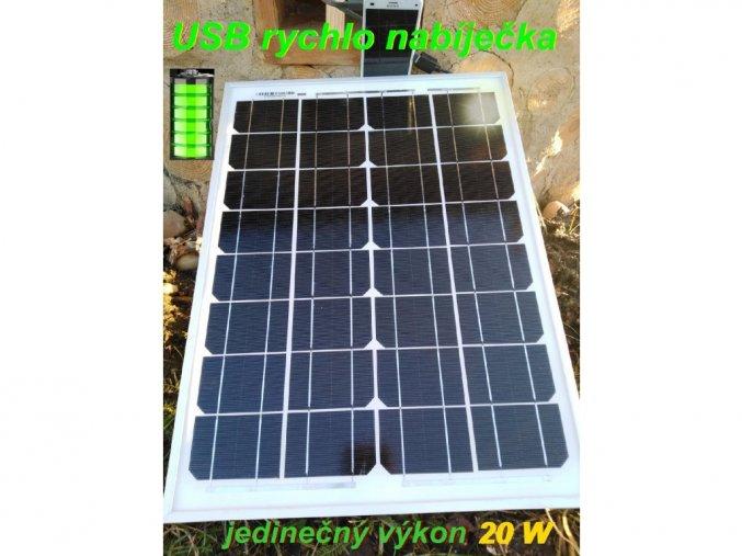 usb solární panel