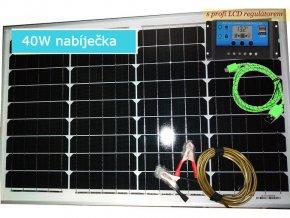 solární nabíječka autobaterie