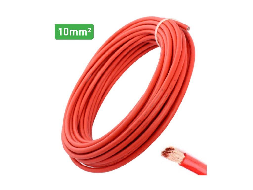 kabel 10mm cerveny