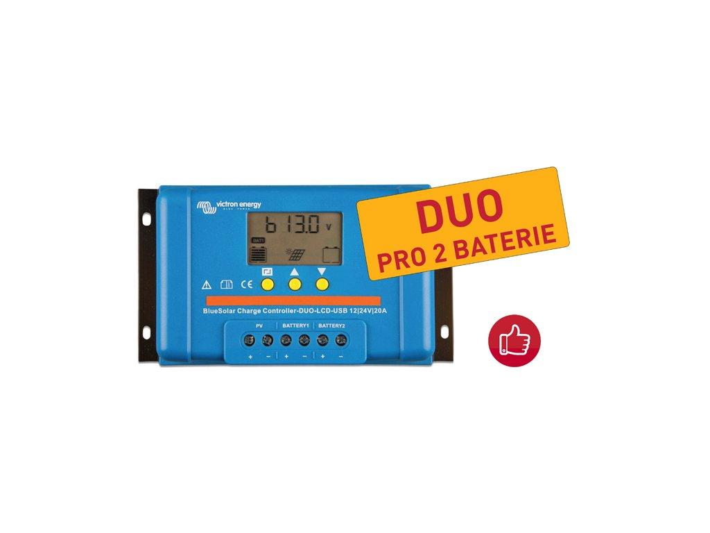 solarni regulator bluesolar duo lcd usb 12 24v 20a top
