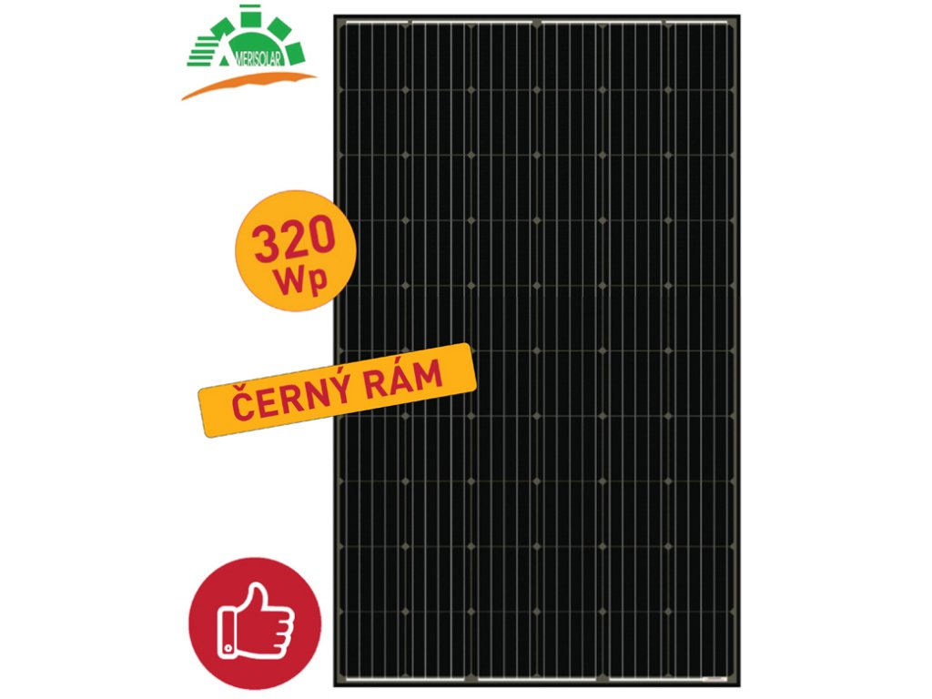 solarni panel amerisolar 320wp black
