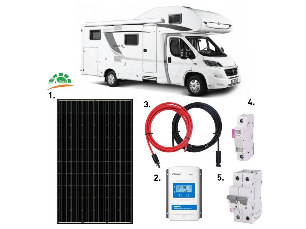 solarni sestava karavan 320 wp mppt 1 amerisolar 320 wp