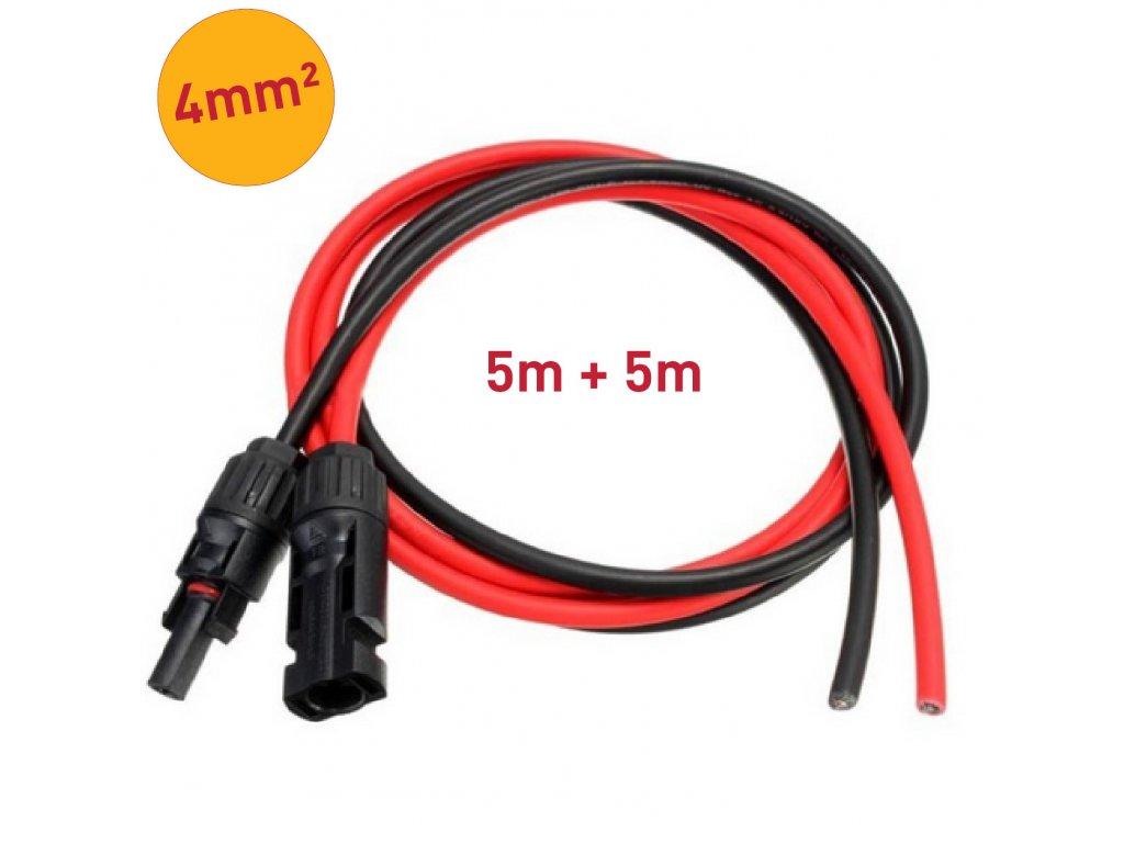 solarni kabel 4mm mc4 konektory 5m