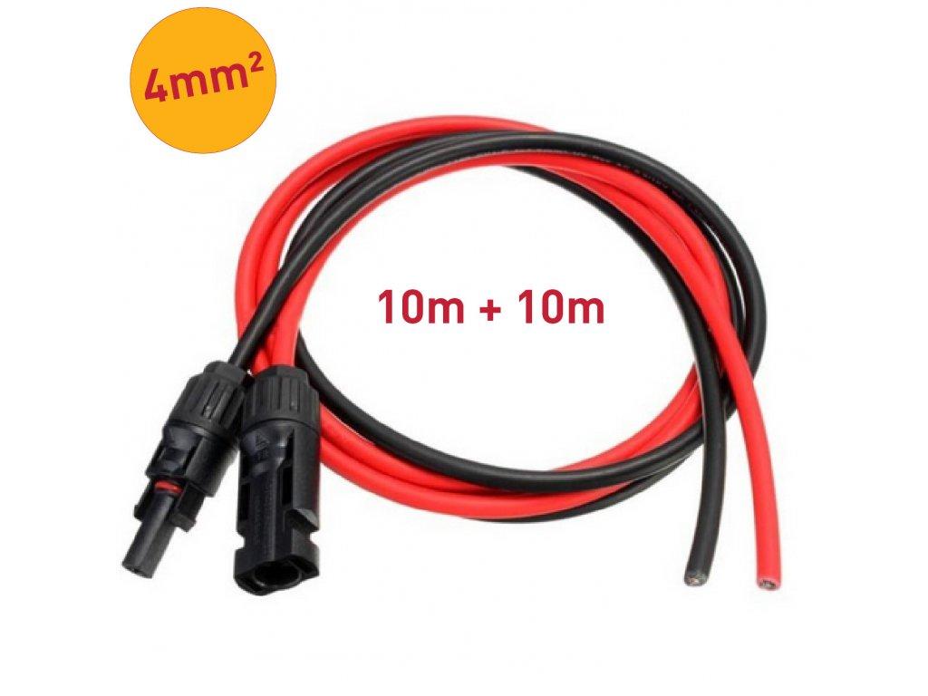 solarni kabely 4mm mc4 konektory 10m