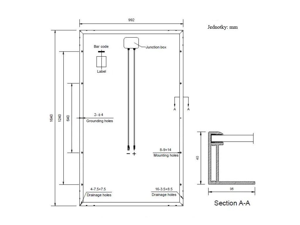 solarni panel polykrystalicky DAH 280wp paleta