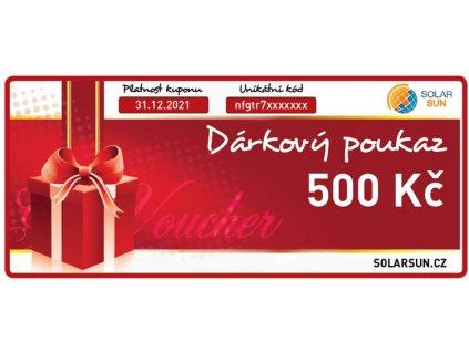 darkovy poukaz solarsun 500 kc