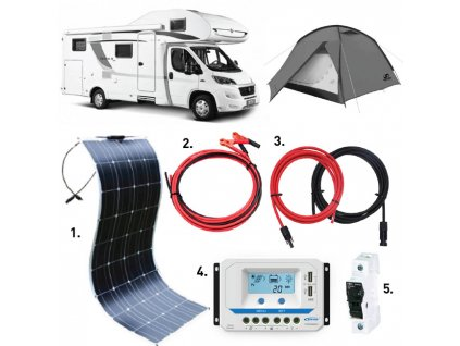 flexibilni solarni panel 100wp karavan set