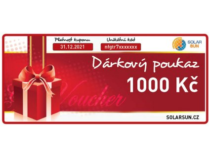 darkovy poukaz solarsun 1000 kc