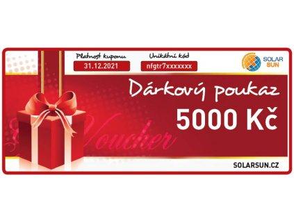 darkovy poukaz solarsun 5000 kc