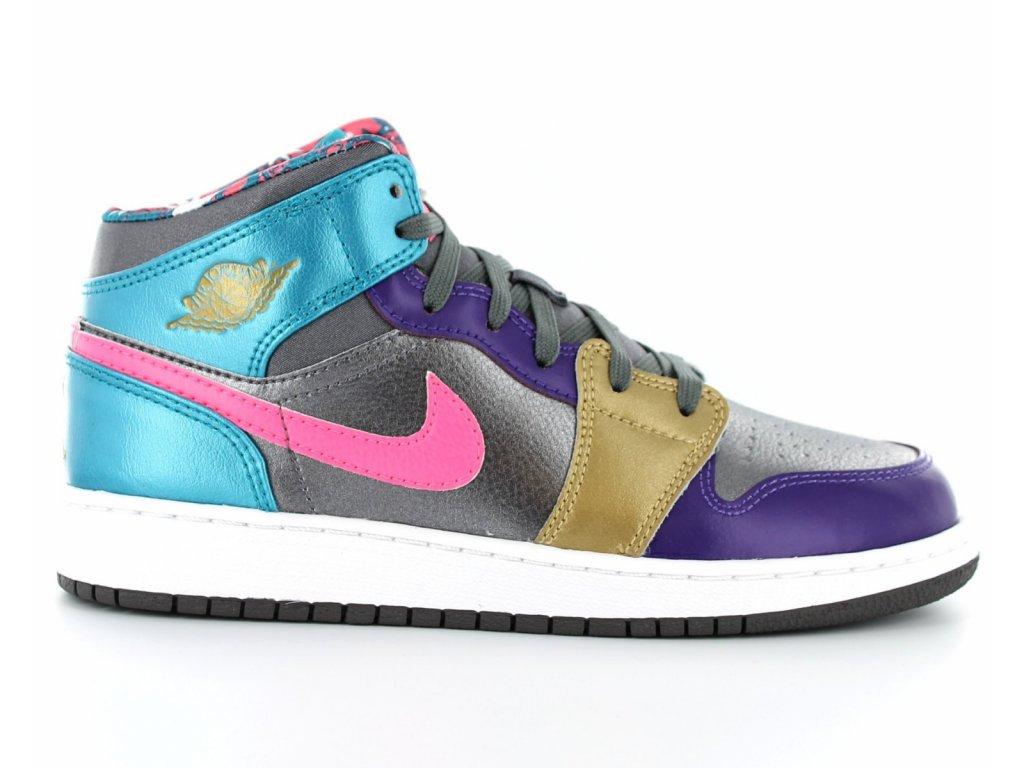 Nike Air Jordan 1 mid GS metalli02