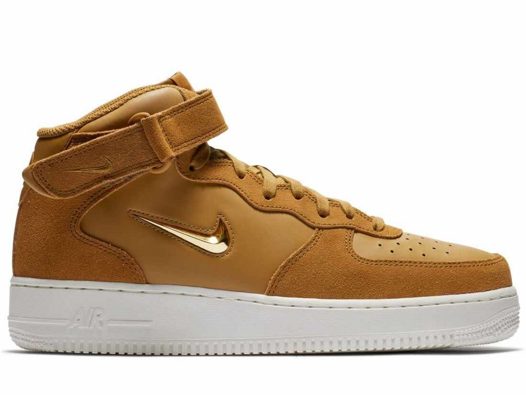 804609 200 nike air force 1 mid 07 lv8 muted bronze summit white metallic gold 448