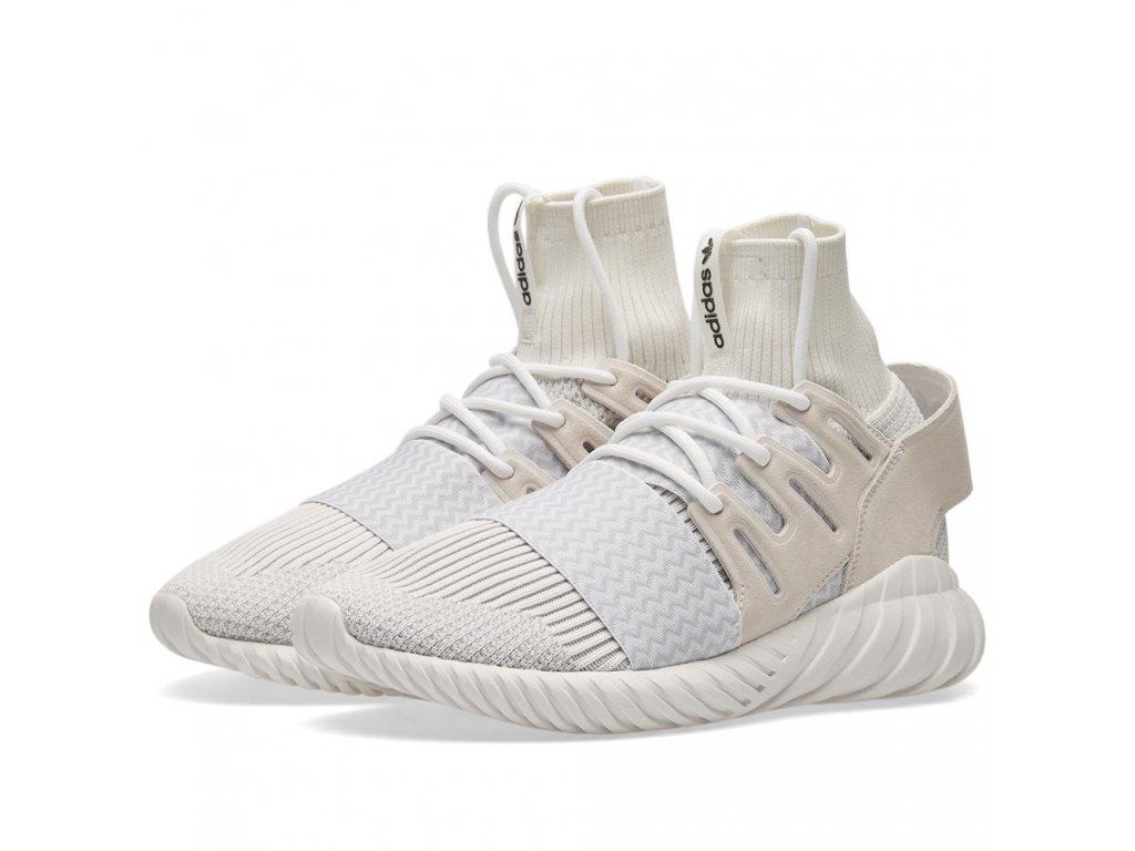 Adidas Originals Tubular Doom Primeknit Off White White 1