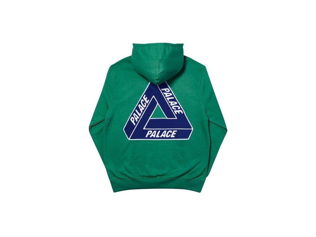 Palace Tri Chenille Hood Green 2