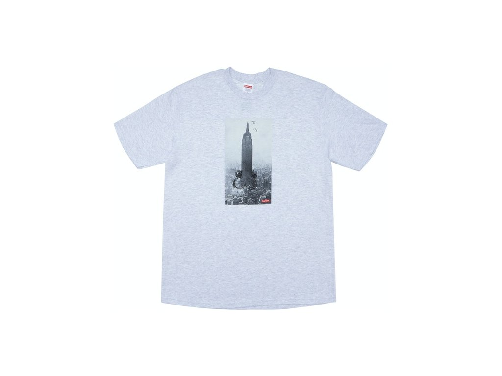 Supreme Mike Kelley Supreme The Empire State Building Tee Ash Grey