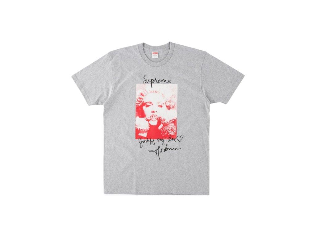 Supreme Madonna Tee Heather Grey 1 1