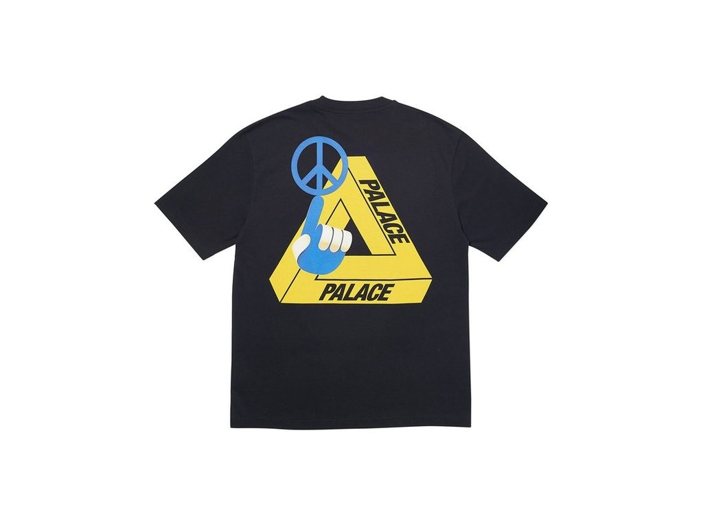 Palace Tri Smiler T Shirt Black 2