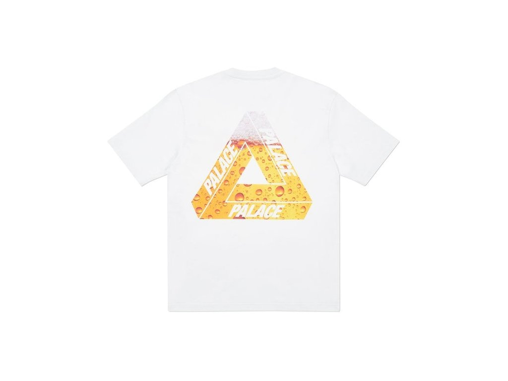 Palace Tri Lager T Shirt White